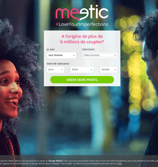 meetic inscription deroulement