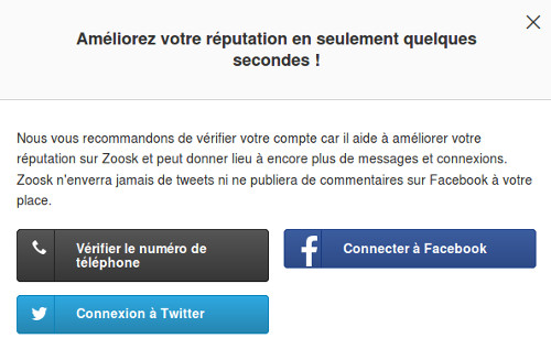securite compte zoosk